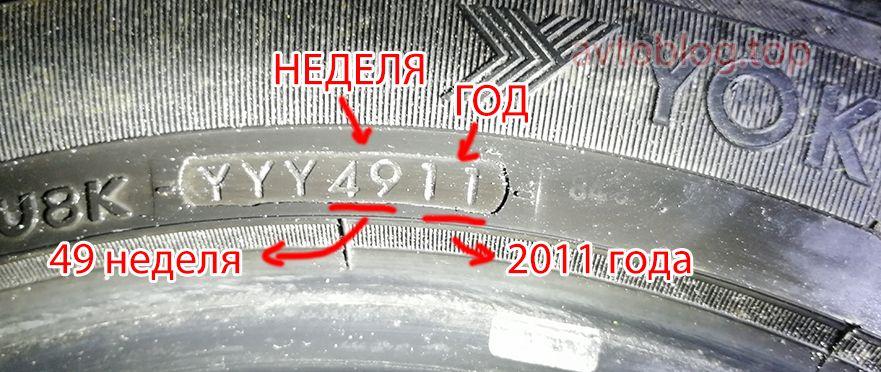 Как расшифровать дату изготовления шины Yokohama